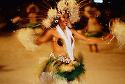 Dancer, Tahitian fete, Papeete, Tahiti, French Polynesia