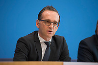 DEU, Deutschland, Germany, Berlin, 13.12.2017: Bundesjustizminister Heiko Maas (SPD) in der Bundespressekonferenz zum Abschlussbericht und Bilanz zum Terroranschlag auf dem Breitscheidplatz am 19.12.2016.