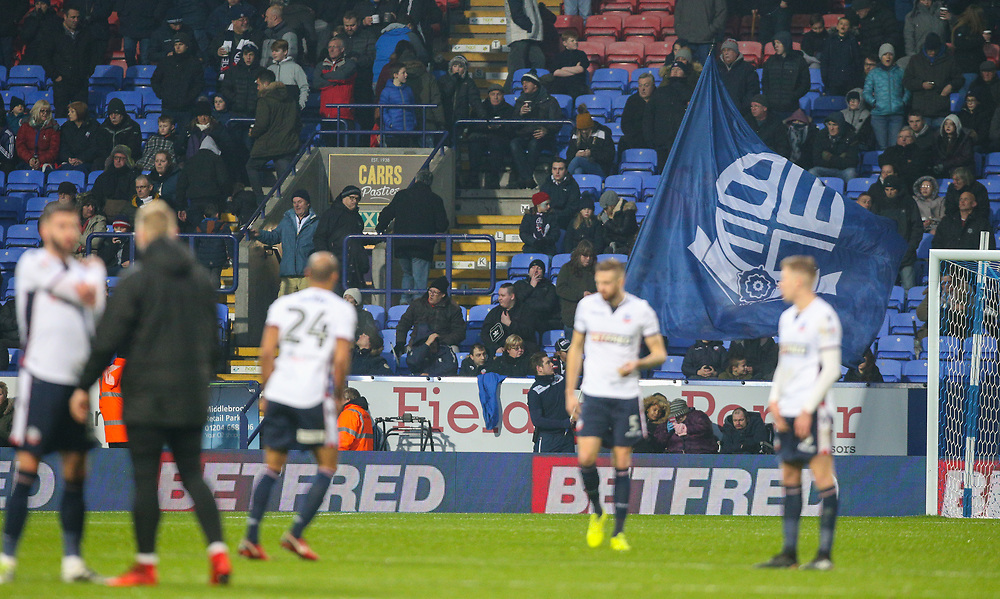 The Bolton Wanderers team take to the pitch for the second half<br /> <br /> Photographer Alex Dodd/CameraSport<br /> <br /> The EFL Sky Bet Championship - Bolton Wanderers v Burton Albion - Saturday 16th December 2017 - Macron Stadium - Bolton<br /> <br /> World Copyright © 2017 CameraSport. All rights reserved. 43 Linden Ave. Countesthorpe. Leicester. England. LE8 5PG - Tel: +44 (0) 116 277 4147 - admin@camerasport.com - www.camerasport.com