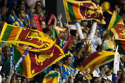 © Licensed to London News Pictures. 07/10/2012. Sri Lankan cricket fans during the World T20 Cricket Mens Final match between Sri Lanka Vs West Indies at the R Premadasa International Cricket Stadium, Colombo. Photo credit : Asanka Brendon Ratnayake/LNP
