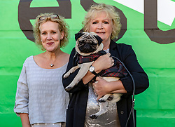 Cast and crew attend a special screening of Patrick at the Edinburgh International Film Festival.<br /> <br /> Directed by Maddie Fletcher it stars Beattie Edmondson<br /> <br /> Pictured: Vanessa Davies (Producer) and Mandie Fletcher (Director) with Harley the dog