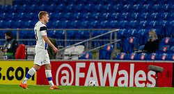 CARDIFF, WALES - Wednesday, November 18, 2020: Finland's Jere Uronen looks dejected as he walks off after being sent off during the UEFA Nations League Group Stage League B Group 4 match between Wales and Finland at the Cardiff City Stadium. Wales won 3-1 and finished top of Group 4, winning promotion to League A. (Pic by David Rawcliffe/Propaganda)