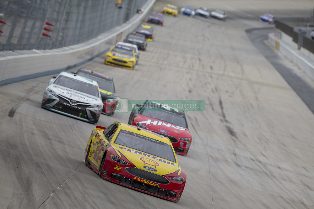 May 6, 2018 - Dover, Delaware, United States of America - Joey Logano (22) battles for position during the AAA 400 Drive for Autism at Dover International Speedway in Dover, Delaware. (Credit Image: © Justin R. Noe Asp Inc/ASP via ZUMA Wire)