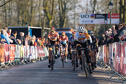 Marianne Vos comes to the fore with two laps to go  - Drentse 8, a 140km road race starting and finishing in Dwingeloo, on March 13, 2016 in Drenthe, Netherlands.