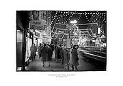 Christmas decorations on Grafton Street, Dublin.<br /> <br /> 9th December 1961<br /> 09/012/1961