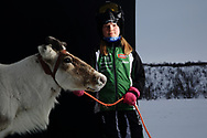 Ten-year-old Ana Maria Eira, winner of the 2018 World Cup in junior class reindeer racing, is also the proud owner of Suiva, fastest animal in Norway and this year's senior class winner.