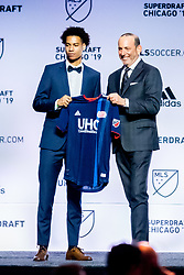 January 11, 2019 - Chicago, IL, U.S. - CHICAGO, IL - JANUARY 11: Tajon Buchanan is selected as the number nine overall pick to the New England Revolution in the first round of the MLS SuperDraft on January 11, 2019, at McCormick Place in Chicago, IL. (Photo by Patrick Gorski/Icon Sportswire) (Credit Image: © Patrick Gorski/Icon SMI via ZUMA Press)