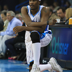 06 February 2009:  New Orleans Hornets forward James Posey (41) waits to enter the game during a NBA game between the New Orleans Hornets and the Toronto Raptors at the New Orleans Arena in New Orleans, LA.