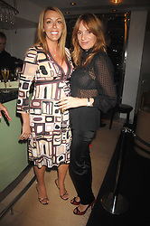 Left to right, GRAINNE STEVENSON and EMILY OPPENHEIMER-TURNER at a dinner in aid of Eve Appeal, Gynaecology Cancer research Fund held at Nobu, The Metropolitan Hotel, Park Lane, London on 3rd September 2007.<br />