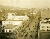 1926 Looking east on Hollywood Blvd. from Highland Ave.