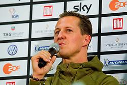 26.11.2010, Esprit Arena, Düsseldorf, GER, Race of Champions, im Bild Michael Schumacher (GER, F1 Mercedes GP) in der Pressekonferenz, EXPA Pictures © 2010, PhotoCredit: EXPA/ A. Neis / SPORTIDA PHOTO AGENCY