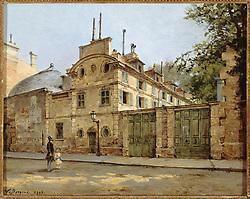 """Victor Dargaud (1850-1921). """"Maison de la rue Fortunée"""". Huile sur bois, 1899. Paris, maison de Balzac."""