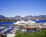 Cruise ships at port in Ketchikan, the Spruce Mill site. Alaska.