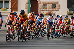 Karlijn Swinkels (NED) in the bunch at the 2020 UEC Road European Championships - Under 23 Women Road Race, a 81.9 km road race in Plouay, France on August 26, 2020. Photo by Sean Robinson/velofocus.com
