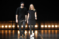 Designers Michael Covolos and Nicole Colovos walk the runway the Helmut Lang fashion show during Mercedes-Benz Fashion Week Fall 2014 on February 7, 2014 in New York City