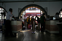 June 14, 2018 - Jakarta, DKI Jakarta, Indonesia - The atmosphere of Pasar Senen Station Jakarta is still filled by the passengers who will celebrate the celebration of Eid al-Fitr in his hometown. (Credit Image: © Kuncoro Widyo Rumpoko/Pacific Press via ZUMA Wire)