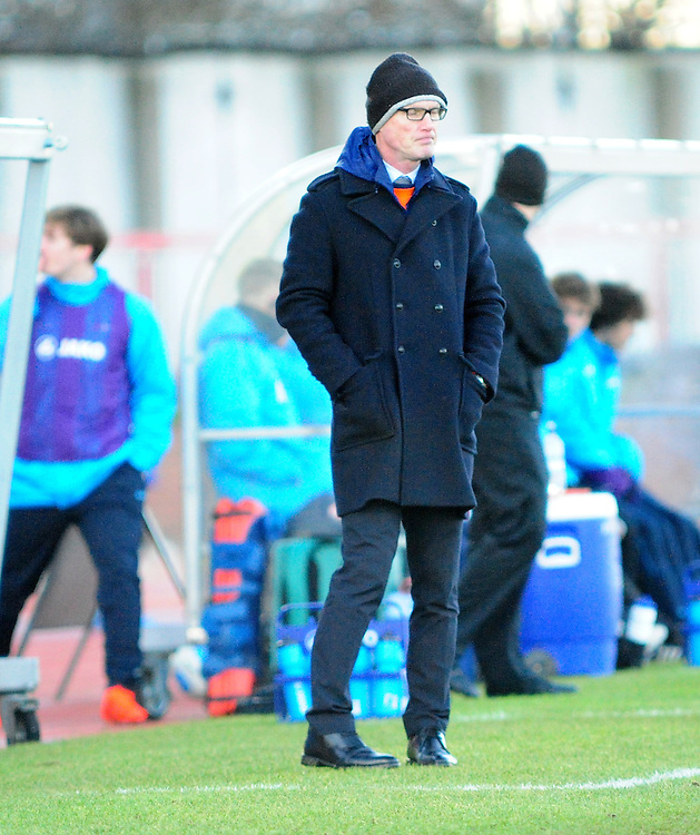 Gateshead manager Neil Aspin in his technical area<br /> <br /> Photographer Andrew Vaughan/CameraSport<br /> <br /> The Buildbase FA Trophy - The Buildbase FA Trophy Second Round - Gateshead v Lincoln City - Saturday 14th January 2017 - Gateshead International Stadium - Gateshead<br />  <br /> World Copyright © 2017 CameraSport. All rights reserved. 43 Linden Ave. Countesthorpe. Leicester. England. LE8 5PG - Tel: +44 (0) 116 277 4147 - admin@camerasport.com - www.camerasport.com