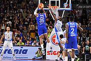 DESCRIZIONE : Beko Legabasket Serie A 2015- 2016 Dinamo Banco di Sardegna Sassari - Enel Brindisi<br /> GIOCATORE : Kenneth Kadji<br /> CATEGORIA : Tiro Controcampo<br /> SQUADRA : Enel Brindisi<br /> EVENTO : Beko Legabasket Serie A 2015-2016<br /> GARA : Dinamo Banco di Sardegna Sassari - Enel Brindisi<br /> DATA : 18/10/2015<br /> SPORT : Pallacanestro <br /> AUTORE : Agenzia Ciamillo-Castoria/C.Atzori