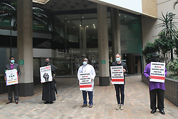 South Africa - Durban - 15 September 2020 - Leaders of the SACC church members conducted a silent protest against Covid - 19 corruption in Durban<br /> Picture: Doctor Ngcobo/African News Agency(ANA)