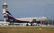 VP-BME Aeroflot Airbus A320-214 Photographed at Malpensa airport, Milan, Italy