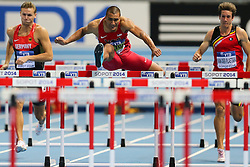 08.03.2014, Ergo Arena, Sopot, POL, IAAF, Leichtathletik Indoor WM, Sopot 2014, im Bild heptathlon, Ashton Eaton (USA) // heptathlon, Ashton Eaton (USA)  during day two of IAAF World Indoor Championships Sopot 2014 at the Ergo Arena in Sopot, Poland on 2014/03/08. EXPA Pictures © 2014, PhotoCredit: EXPA/ Newspix/ Tomasz Jastrzebowski<br /> <br /> *****ATTENTION - for AUT, SLO, CRO, SRB, BIH, MAZ, TUR, SUI, SWE only*****