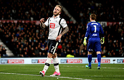 Johnny Russell of Derby County looks frustrated after missing a chance to score - Mandatory by-line: Robbie Stephenson/JMP - 31/03/2017 - FOOTBALL - iPro Stadium - Derby, England - Derby County v Queens Park Rangers - Sky Bet Championship