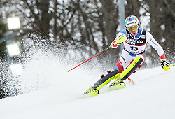 """Daniel Yule (SUI) competes during 1st Run of FIS Alpine Ski World Cup 2017/18 Men's Slalom race named """"Snow Queen Trophy 2018"""", on January 4, 2018 in Course Crveni Spust at Sljeme hill, Zagreb, Croatia. Photo by Vid Ponikvar / Sportida"""