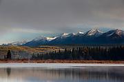 Swan Mountains over Rainy Lake, Montana.