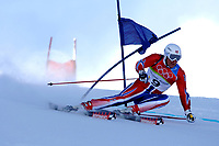 Photo: Catrine Gapper.<br />Winter Olympics, Turin 2006. Alpine Skiing Mens Giant Slalom. 20/02/2006. Aksel Lund Svindal of Norway finishes in sixth place in Men s Giant Slalom.