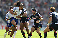 Samoa Paul Perez breaks forward during the Rugby World Cup 2015 match between Samoa and USA at the Brighton Community Stadium, Falmer, United Kingdom on 20 September 2015.