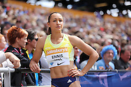 Jessica Ennis-Hill of Great Britain in the long jump during the Sainsbury's Anniversary Games at the Queen Elizabeth II Olympic Park, London, United Kingdom on 25 July 2015. Photo by Phil Duncan.