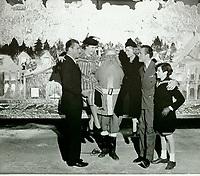 1938 (l to r) Buster Crabbe, Martha Raye, Santa, Joan Caufield, Barry Morris & Richard Bartholomew at the Santa Claus Lane Parade