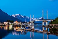 John O'Connell Bridge, on the harbor in Sitka, Alaska USA.