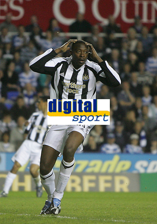 Photo: Lee Earle.<br /> Reading v Newcastle United. The Barclays Premiership. 30/04/2007.Newcastle's Shola Ameobi looks dejected after going close.