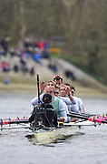 Putney - Chiswick, London,  Great Britain.<br /> Lance TREDWELL aims a air kiss towards the gathered  crowd/audience, on Chiswick Bridge<br /> 2016 University Boat Race, Oxford vs Cambridge, Putney. Putney  to Mortlake, Championship Course. River Thames.<br /> <br /> Sunday  27/03/2016 <br /> <br /> [Mandatory Credit; Peter SPURRIER/Intersport-images]