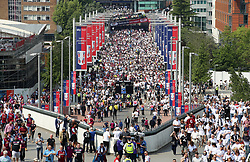 A general view of Wembley Way during the Sky Bet Championship Final at Wembley Stadium, London.