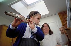Music class at primary school, UK