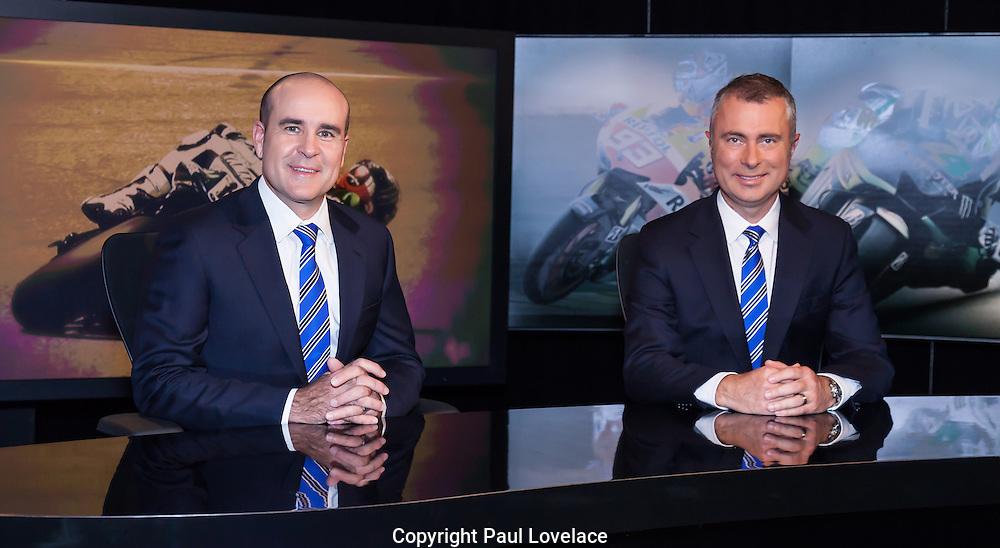 Moto GP-Le Mans, France. Greg Rust and Daryl Beattie in Network Ten studio, Sydney.