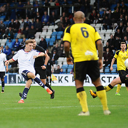 TELFORD COPYRIGHT MIKE SHERIDAN 13/10/2018 - GOAL. Henry Cowans of AFC Telford scores to make it 1-1 during the Vanarama National League North fixture between AFC Telford United and Chorley