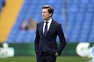 Crystal Palace owner Steve Parish looks on as he walks on to the pitch before k/o. Barclays Premier League match, Crystal Palace v Swansea city at Selhurst Park in London on Monday 28th December 2015.<br /> pic by John Patrick Fletcher, Andrew Orchard sports photography.