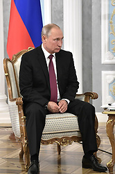June 19, 2018 - ???, Belarus - June 19, 2018. - Belarus, Minsk. - Russian President Vladimir Putin during a meeting with President of Belarus Alexander Lukashenko. (Credit Image: © face to face via ZUMA Press)