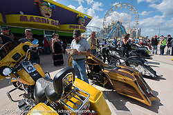 Boardwalk Bagger Show during Daytona Beach Bike Week 2015. FL, USA. March 14, 2015.  Photography ©2015 Michael Lichter.