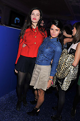 Left to right, sisters EVANGELINE LING and BIP LING at the Warner Music Group Post Brit Awards Party in Association with Samsung held at The Savoy, London on 20th February 2013.