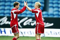 Fotball , 15. oktober 2011 , 2. divisjon , Strømsgodset 2 - Tromsdalen<br /> <br /> Kjetil Warholm (tv) og Christer Johnsgård , TUIL
