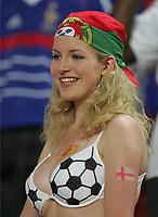 Fotball,  Portugal, EM, Euro 2004, 150604, <br /> Illustrasjon, supporter, fan, fans, bikini, <br /> <br /> Photo  ,Digitalsport