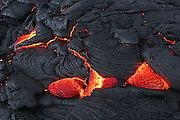Pahoehoe Lava, Kilauea Volcano, Hawaii Volcanoes National Park, Island of Hawaii, Hawaii, USA