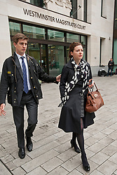 © London News Pictures. 29/05/2013. London, UK. Former Whitehall editor of The Sun Newspaper, CLODAGH HARTLEY (right) leaving Westminster Magistrates court where she faces charges of conspiracy to commit misconduct in public office over allegations that The Sun newspaper paid £17,475 to HMRC press officer Jonathan Hall. Photo credit: Ben Cawthra/LNP