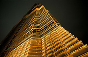 Exteriors of the JIN MAO Tower, Shanghai. The third tallest building in Asia, China