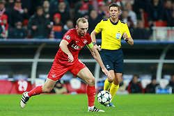 October 18, 2017 - Moscow, Russia - October 17, 2017. Russia, Moscow, Otkritie Arena Stadium. Spartak's player  Denis Glushakov in the 2017/18 UEFA Champions League's group stage match between Spartak (Moscow, Russia) and Sevilla FC  (Credit Image: © Russian Look via ZUMA Wire)