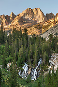 Sawtooth Range and Horse Creek Falls, Hoover Wilderness, Toiyabe National Forest, California
